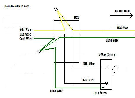 wiring a 2 way switch rh how to wire it com wiring diagram for 2 way light switch uk 3 Switch 2 Light Diagram
