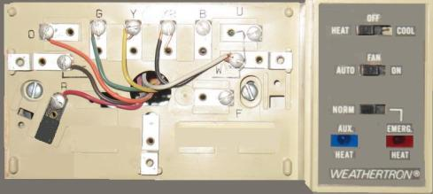 wire a thermostat heat pump thermostat wiring image