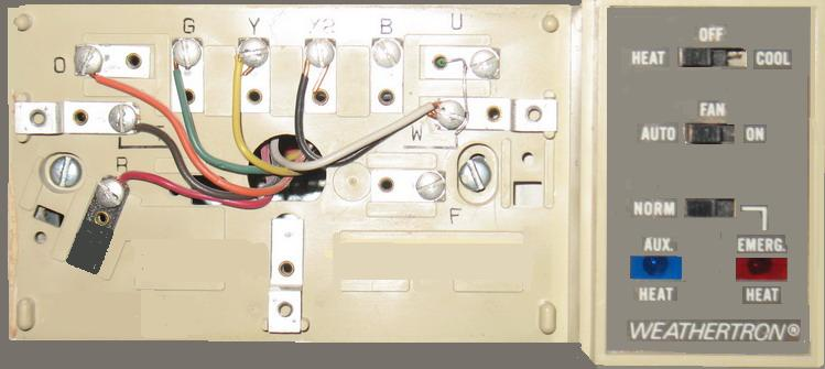 Heat Pump Thermostat  Wiring Image