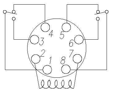 2 pole 8 pin Relay Pinout Diagram