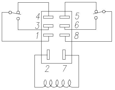 Reversing Relay Schematic Wiring Diagram Free Download in addition Omron Mk2p S Wiring Diagram additionally Creating Relay Logic Gates also Gretsch Billy Bo Wiring Diagram further How To Connect A Double Pole Double Throw Relay In A Circuit. on 8 pin dpdt relay wiring diagram